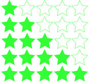 Stars rating isolated on white background. Five stars rating. Vector illustration Stock Photography