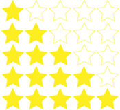 Stars rating isolated on white background. Five stars rating. Vector illustration Royalty Free Stock Photography