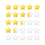 Stars Rating. Vector. Stars Rating. Bright and Shiny. Vector illustration Stock Photos