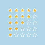 Stars rating.Vector illustrator. Stars rating.Vector illustrator background Stock Image