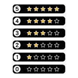 Stars rating.Vector illustrator. Royalty Free Stock Photos