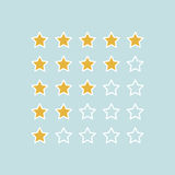 Stars rating.Vector illustrator. Stars rating on simple background Stock Image
