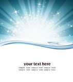 Stars and ray. Of light graphic background Stock Photography