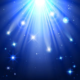 Stars with rays of light Stock Photography