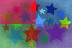 Stars and rectangles grunge background. stock photography