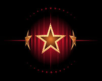 Stars in red Royalty Free Stock Images