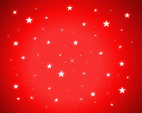 Stars on red background. Shinning stars on red background stock illustration