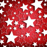 Stars on red background Royalty Free Stock Photo