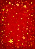 Stars on Red Background. Star shapes on a grungy red background Royalty Free Stock Image