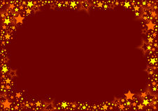 Stars And Red Background Royalty Free Stock Photo