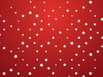 Stars on red background. Modern style Stock Photo