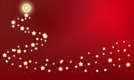 Stars on a red background. Wandering stars on a red background Stock Photography