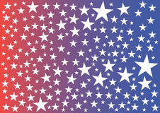 Stars on red-blue background. Royalty Free Stock Image