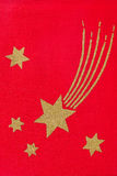 Stars on red fabric Royalty Free Stock Image