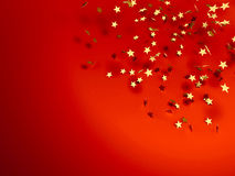 Stars on red. Illustration of golden stars on red background Stock Photography