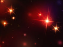 Stars with red lights Stock Photography
