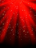 Stars on red striped background. EPS 8 Royalty Free Stock Photo