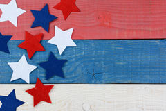 Stars on Red White and Blue Table royalty free stock photography