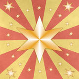 Stars on red and yellow beams Royalty Free Stock Photo