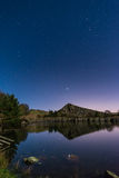 Stars reflect in Cawfield Quarry Royalty Free Stock Photo