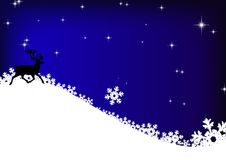 Stars, reindeer and snowflakes Royalty Free Stock Photos