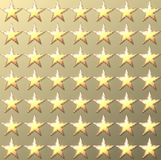 Stars retro light gold background Royalty Free Stock Photos