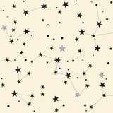 Stars. Retro Seamless pattern background. Stock Photo