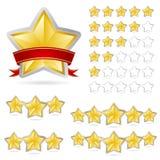 Stars reward set royalty free stock photo