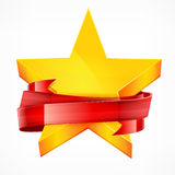 Stars with ribbon Stock Photography