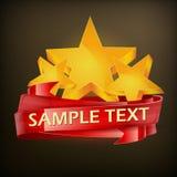 Stars with ribbon Royalty Free Stock Photos
