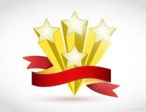 Stars and ribbon illustration design Stock Photo