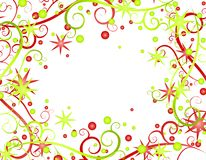 Stars Ribbons Christmas Background 2 Stock Photography