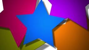 Stars rotation stock video