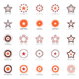 Stars and rotation. Design elements set. Stock Photos
