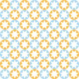 Stars in round pattern in blue and orange colors Stock Image