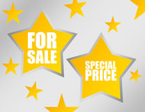 Stars for sale Royalty Free Stock Image