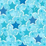 Stars Seamless Pattern. Blue Stars Celestial Seamless Repeat Pattern Vector Illustration eps vector illustration