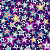 Stars Seamless Pattern. Rainbow Colored Star Seamless Repeat Pattern Vector Illustration eps Royalty Free Stock Photos