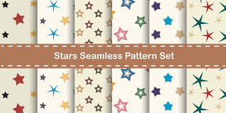 Stars seamless pattern background Stock Images