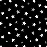 Stars seamless pattern black 3D Stock Photo