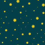 Stars seamless pattern for christmass decorationvector illustration, dark sky at night or in space tile background Stock Photography