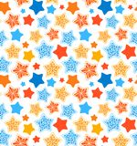 Stars seamless pattern. Royalty Free Stock Images