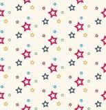 Stars seamless pattern Stock Photos