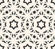 Stars seamless pattern. Elegant geometric ornament. Delicate vector seamless pattern. Elegant ornament texture with linear geometric shapes, stars. Abstract Stock Photo