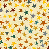 Stars seamless pattern. Greeting card background, Holiday bright star backdrop various sizes and colors. Vector illustration Stock Photo