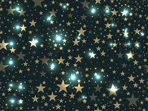 Stars seamless pattern. Magic star pattern. Outer space. Vector Royalty Free Stock Images