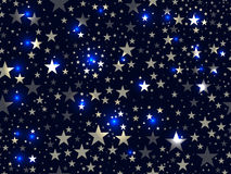 Stars seamless pattern. Magic star pattern. Outer space. Vector Stock Images