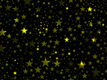 Stars seamless pattern. Magic star pattern. Outer space. Vector Stock Photography