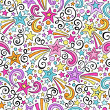 Stars Seamless Pattern Notebook Doodles Vector Stock Photos