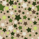 Stars, seamless pattern. Vector illustration Royalty Free Stock Images